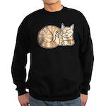 OrangeTabby ASL Kitty Sweatshirt (dark)