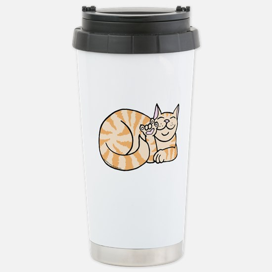 OrangeTabby ASL Kitty Stainless Steel Travel Mug