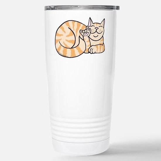 OrangeTabby ASL Kitty Stainless Steel Travel Mug
