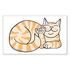 OrangeTabby ASL Kitty Rectangle Decal