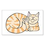 OrangeTabby ASL Kitty Rectangle Sticker 10 pk)