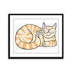 OrangeTabby ASL Kitty Framed Panel Print