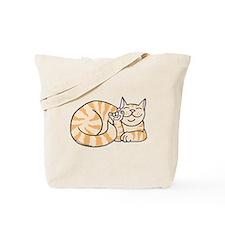 OrangeTabby ASL Kitty Tote Bag