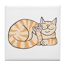 OrangeTabby ASL Kitty Tile Coaster