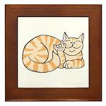 OrangeTabby ASL Kitty Framed Tile