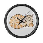 OrangeTabby ASL Kitty Large Wall Clock