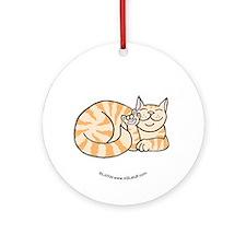 OrangeTabby ASL Kitty Ornament (Round)