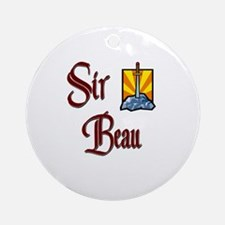 Sir Beau Ornament (Round)