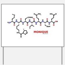 Monique name molecule Yard Sign