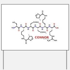 Connor name molecule Yard Sign