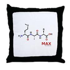 Max name molecule Throw Pillow