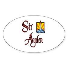 Sir Ayden Oval Decal
