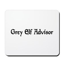 Grey Elf Advisor Mousepad