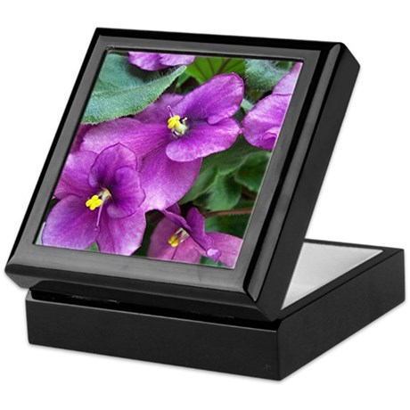 Beautiful Purple AV Field Keepsake Box