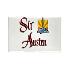 Sir Austen Rectangle Magnet