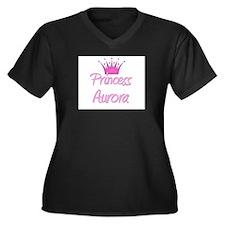 Princess Aurora Women's Plus Size V-Neck Dark T-Sh