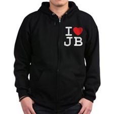 I Heart JB (B) Zip Hoodie