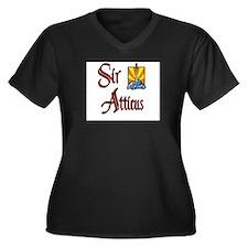Sir Atticus Women's Plus Size V-Neck Dark T-Shirt
