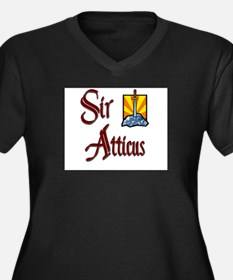 Sir Atticus Women's Plus Size V-Neck Dark T-Shirt