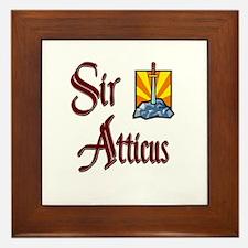 Sir Atticus Framed Tile