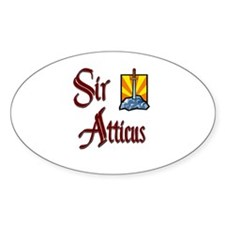 Sir Atticus Oval Decal