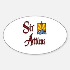 Sir Atticus Oval Decal