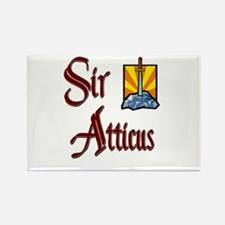 Sir Atticus Rectangle Magnet