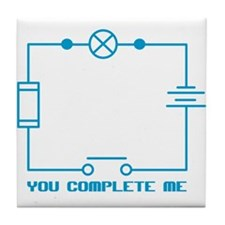 Complete Me Circuit Tile Coaster
