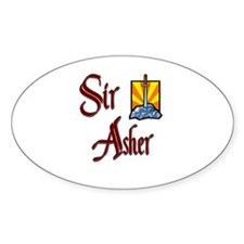 Sir Asher Oval Decal