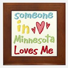 Someone in Minnesota Loves Me Framed Tile