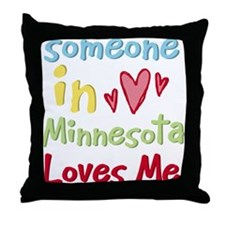 Someone in Minnesota Loves Me Throw Pillow