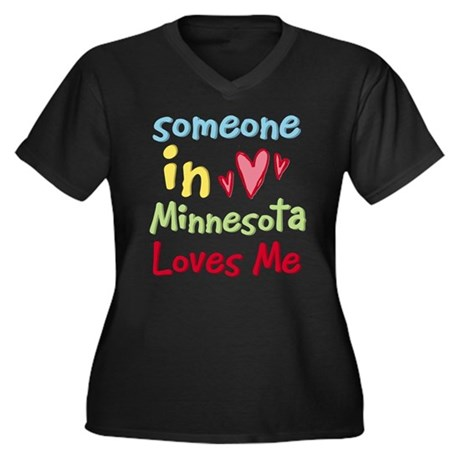 Someone in Minnesota Loves Me Women's Plus Size V-
