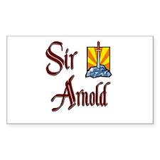 Sir Arnold Rectangle Decal