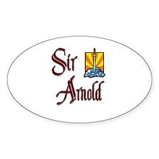 Sir Arnold Oval Decal