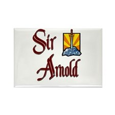 Sir Arnold Rectangle Magnet