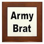 Army Brat Framed Tile