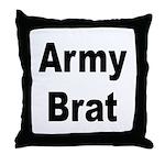 Army Brat Throw Pillow