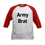 Army Brat (Front) Kids Baseball Jersey