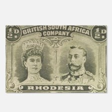 Rhodesia KGV Double Heads 1/2 Postcards (Package o