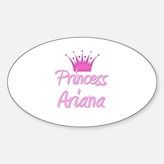 Princess Ariana Oval Decal
