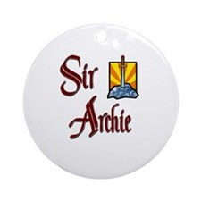 Sir Archie Ornament (Round)