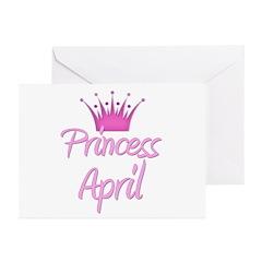 Princess April Greeting Cards (Pk of 20)