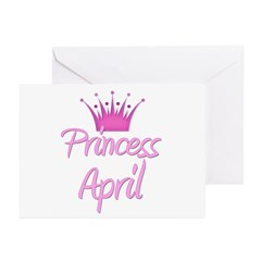 Princess April Greeting Cards (Pk of 20)