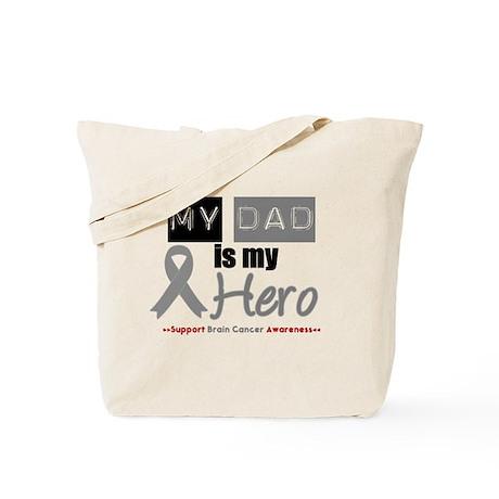 Brain Cancer Hero Dad Tote Bag