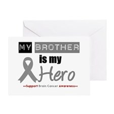 Brain Cancer Hero Brother Greeting Card