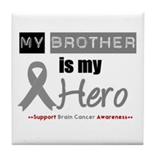 Brain Cancer Hero Brother Tile Coaster