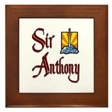 Sir Anthony Framed Tile