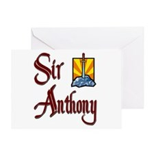 Sir Anthony Greeting Card