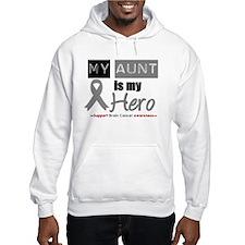 Brain Cancer Hero Aunt Hoodie