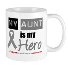 Brain Cancer Hero Aunt Mug